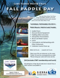 The Lake Tahoe Watertrail Fall Paddle Day