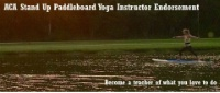 Stand Up Paddleboard Yoga Instructor Endorsement