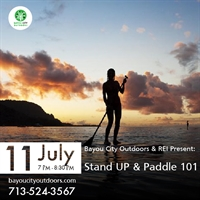 Bayou City Outdoors & REI Present: SUP 101 – Stand Up & Paddle!