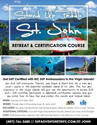 Stand Up Paddle St. John Retreat and Certification