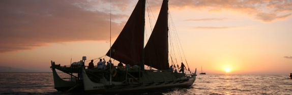Traditional Hawaiian Sailing Canoe