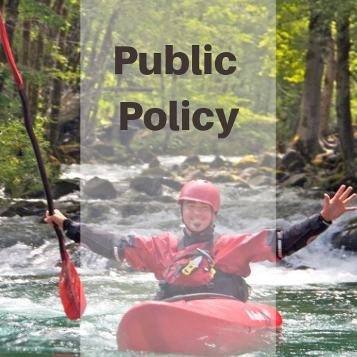 Public Policy support at the local, state and federal levels