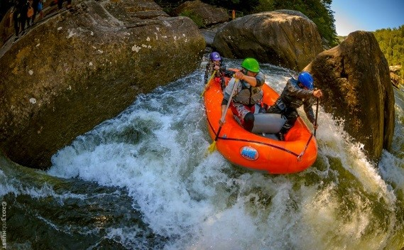 Rafting the French Borad River. Photo Courtesy of Blue Heron Rafting