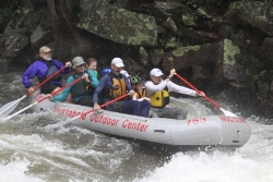 ACA Legend of Paddling Award recipient Payson Kennedy at Nantahala Falls
