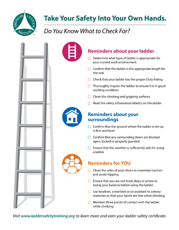 Download the Ladder Safety Checklist