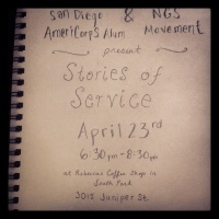 San Diego Chapter of AMERICORPS ALUMS: AmeriStories of Service Open Mic