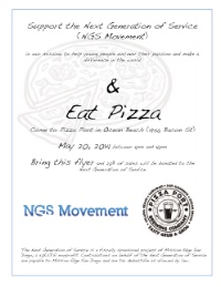 Meet-Up w/ NGS Movement Pizza for Change