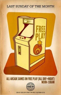 Sunday 3/27 Come Play with Us! Join AmeriCorps Alums forFree Play @ Coin-Op Game Room in North Park!