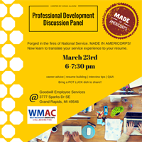Professional Development Discussion Panel (Hosted by West MI Chapter)
