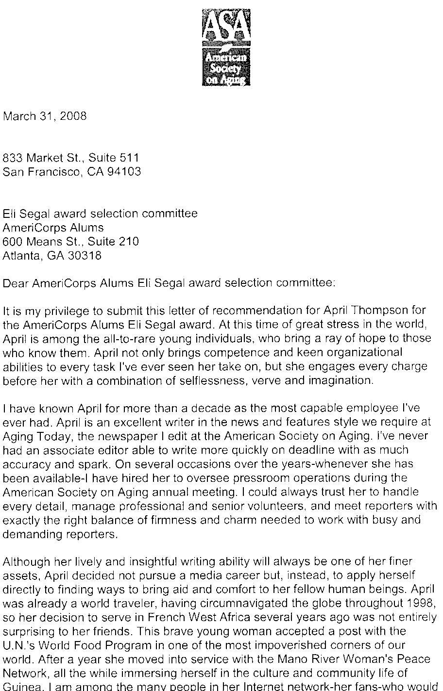eli segal award finalists americorps alums letter of endorsement part 1