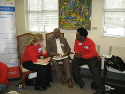 Current AmeriCorps members particpate in ATL Chapter of Alums MLK Day Activities