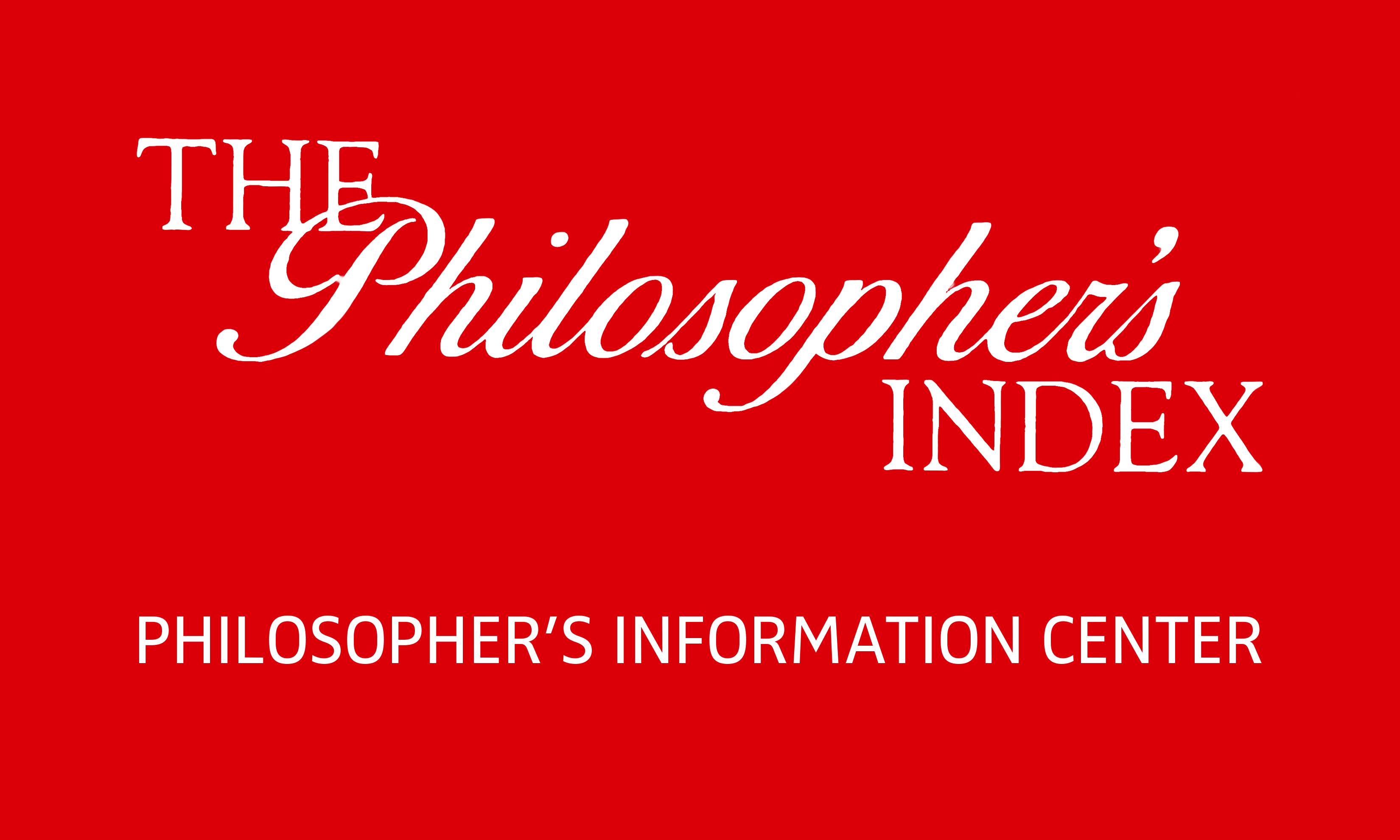 The Philosopher's Index