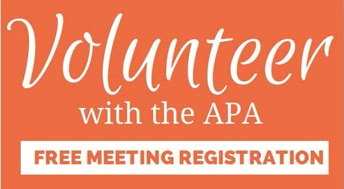 Volunteer with the APA