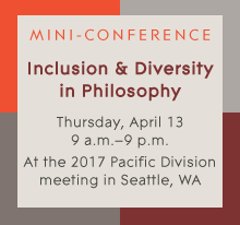 Inclusion and Diversity in Philosophy: An Informal Mini-Conference