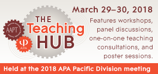The Teaching Hub: March 29–30 features workshops, panel discussions, one-on-one teaching consultations, and poster sessions.