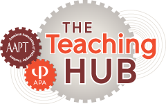 Teaching Hub Logo, including AAPT and APA logos
