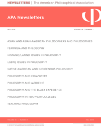 Fall 2018 APA Newsletters