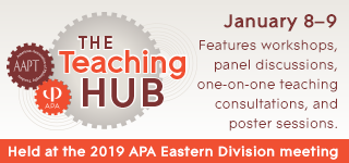 The Teaching Hub: January 8-9 features workshops, panel discussions, one-on-one teaching consultations, and poster sessions.