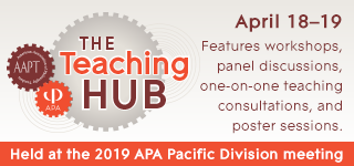 The Teaching Hub: April 18-19 features workshops, panel discussions, one-on-one teaching consultations, and poster sessions.