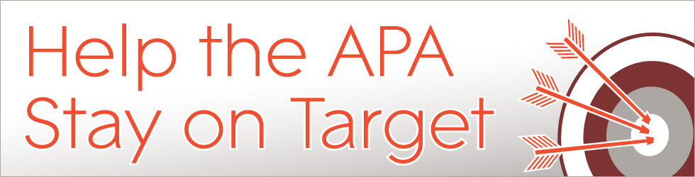 Help the APA stay on target