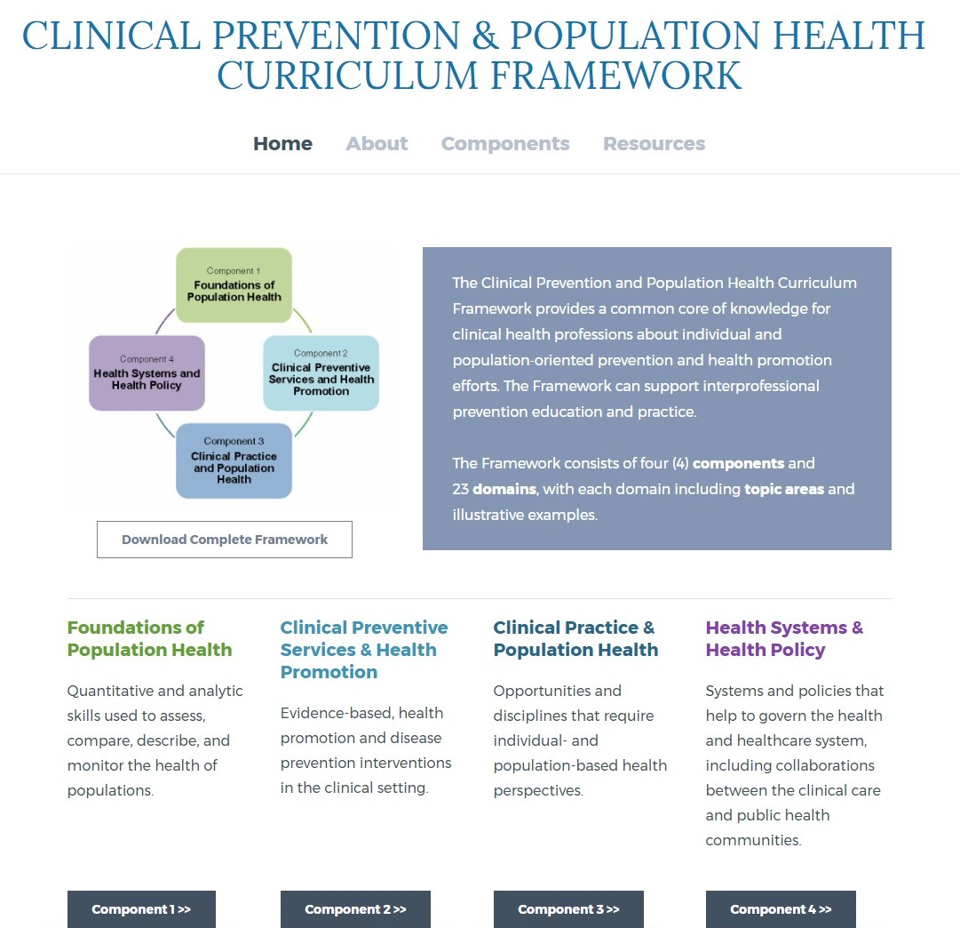 healthy people curriculum task force association for prevention