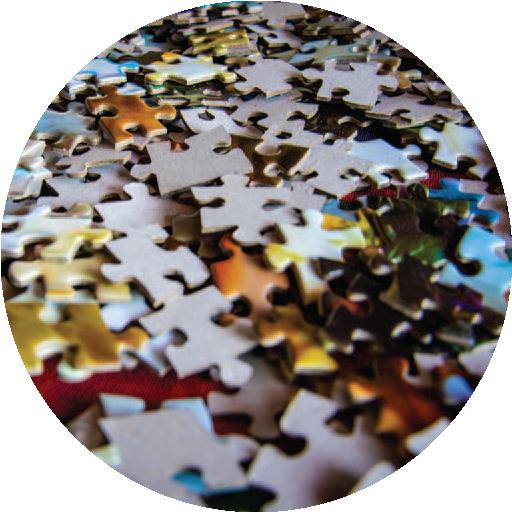Puzzle pieces graphic