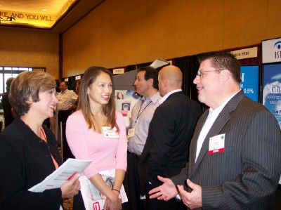 AOS Members Visit with Exhibitors
