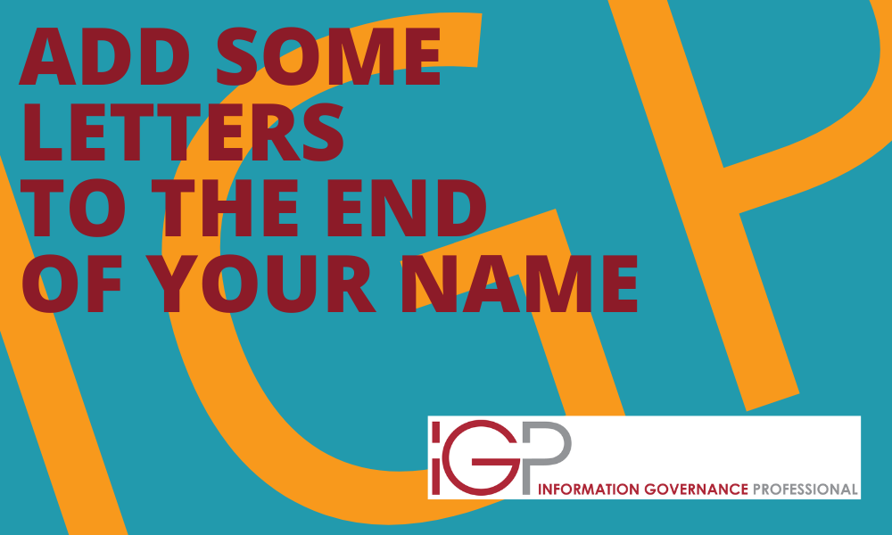 Add IGP at the end of your name