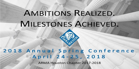 2018 Spring Conference Call for Speakers - ARMA Houston