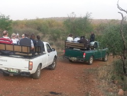 Board members on game drive