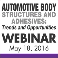 Automobile Body Structures and Adhesives: Trends & Opportunities Webinar