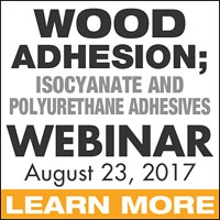 Wood Adhesion; Isocyanate and Polyurethane Adhesives Webinar