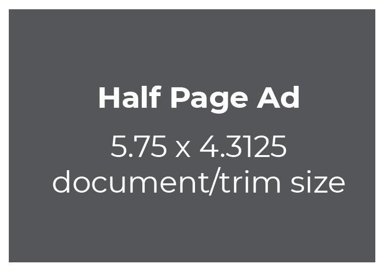 Full Page Ad 5.75 x 8.75