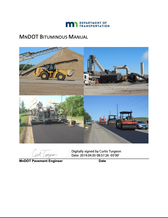 Bituminous Manual
