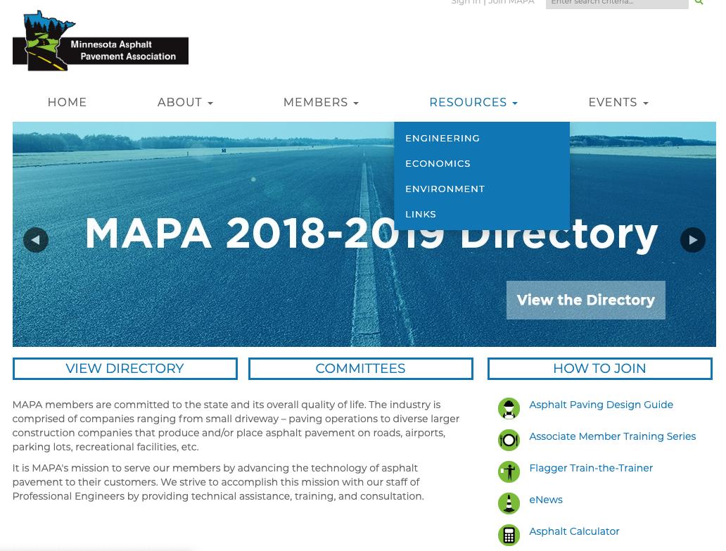 MAPA Website