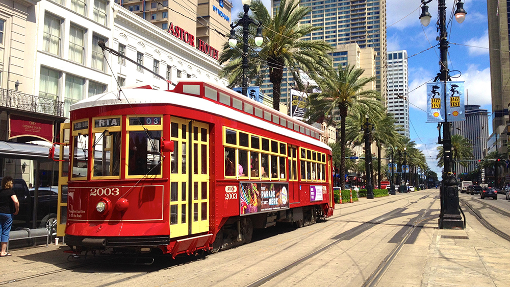 Canal Streetcar in New Orleans, LA