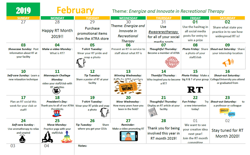 Check Out What We Have Going on For RT Month! - American Therapeutic