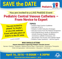 Pediatric Central Venous Catheters - From Novice to Expert