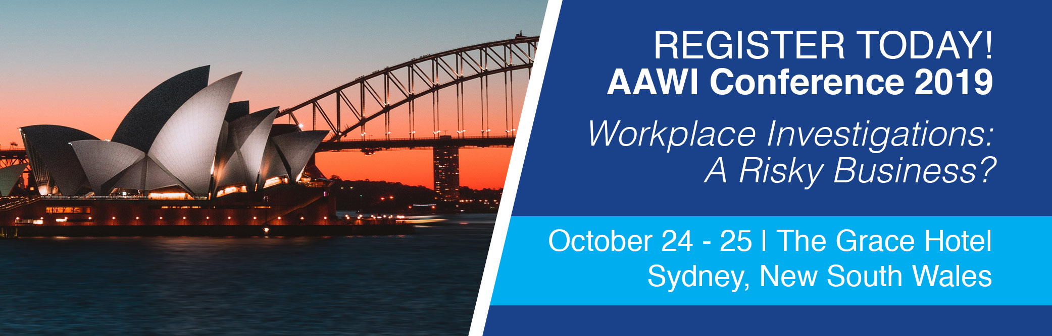 Register today for AAWI's Annual Conference