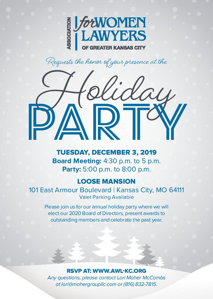 Christmas Events In Kansas City December 8 2020 Association for Women Lawyers of Greater Kansas City