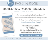 NJ - Basking Ridge - Mini Branding Bootcamp!