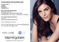 NJ--Open to all Pods:  Estee Lauder Night Out at Bloomingdales