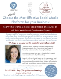 CT - Ridgefield - Choose the Most Effective Social Media Platforms for you Business!