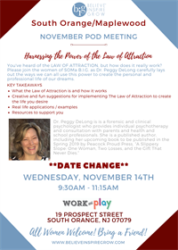 NJ - SOMA -Law of Attraction! DATE CHANGE!!