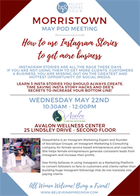 NJ - Morristown - How to Use Instagram Stories to Get More Business