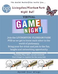 NJ - VIRTUAL - POD MEETING - Livingston/Florham Park- Game Night lets play Business Pictionary