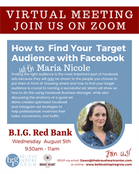 NJ - VIRTUAL - POD MEETING - Red Bank - How To Find Your Target Audience With Facebook