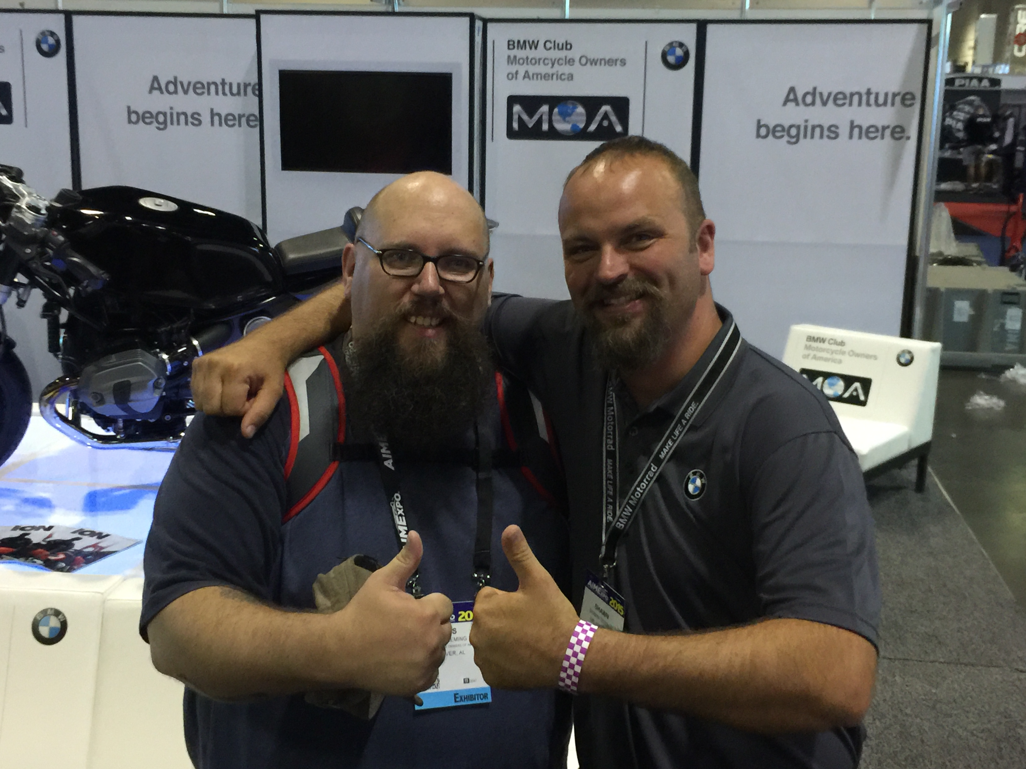 Wes Fleming (left) of BMW MOA and Shawn Thomas of RawHyde Adventures