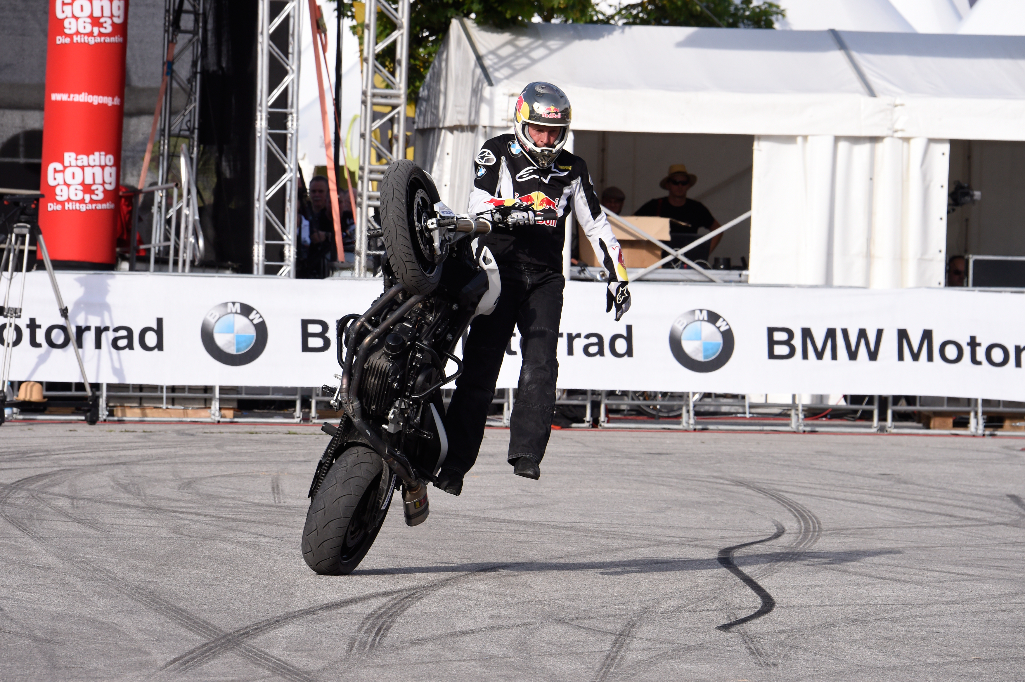 Chris Pfeiffer performing at BMW Motorrad Days in July 2015