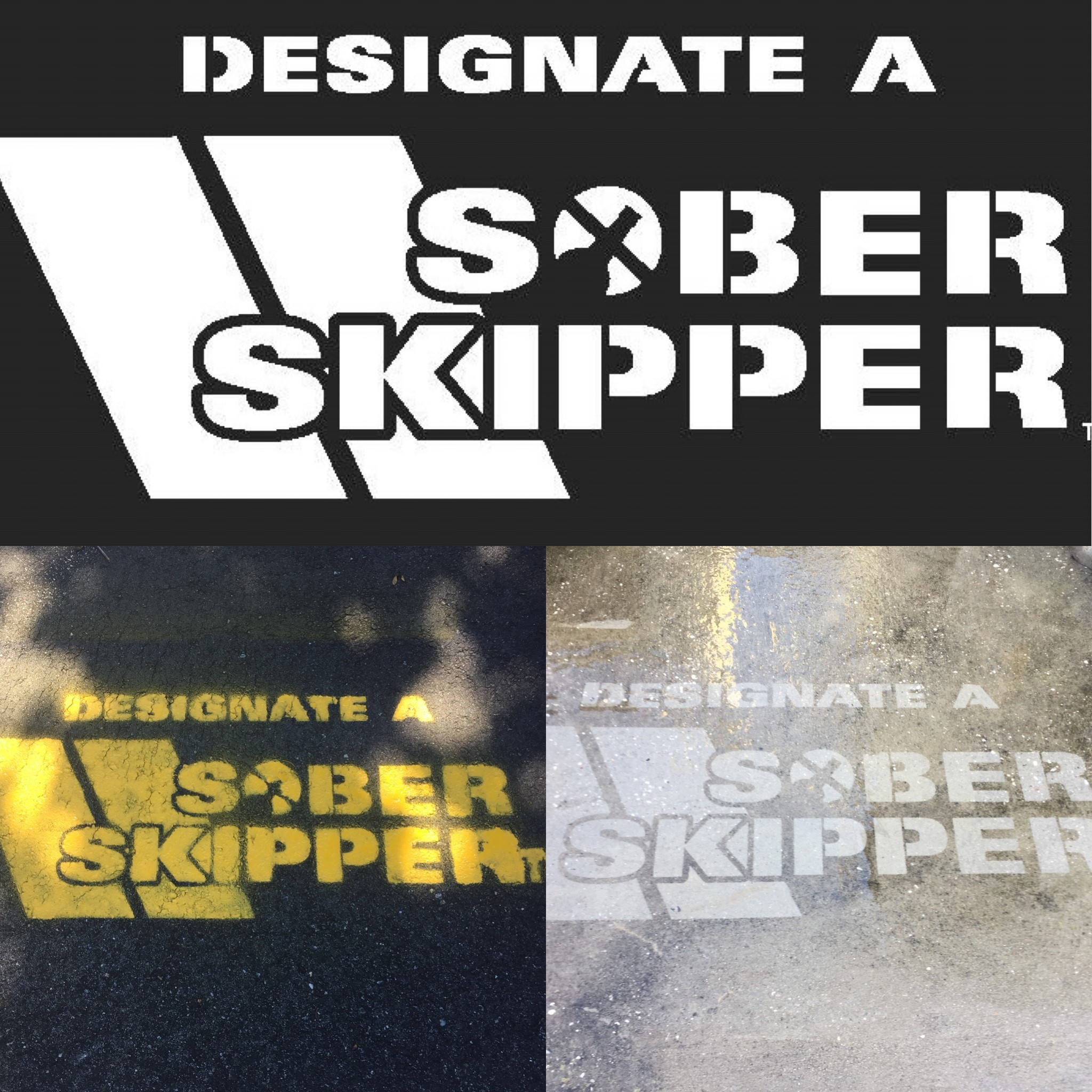 Collage of Sober Skipper Stencil photos